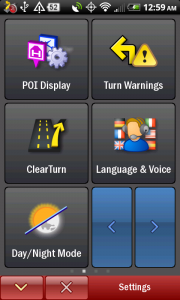 CoPilot Live Settings Menu 2