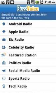BuzzVoice BuzzRadio Stations