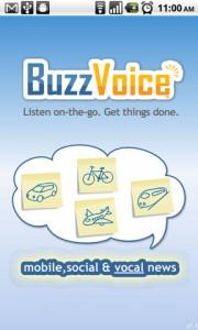 BuzzVoice Start Screen