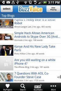 BuzzVoice Top Blogs