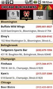Chicago Blackhawks Official Bars