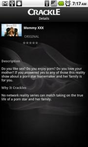 Crackle Show Details