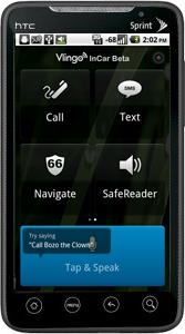 Vlingo InCar on HTC Evo Home Screen