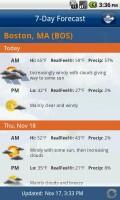 FlightView Elite FlightTracker 7 Day Weather Forecast