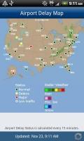 FlightView Elite FlightTracker Airport Delay Map