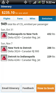 OnTheFly Itinerary Emissions