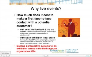 Live Tradeshow Cost Savings for First Time Potential Customers