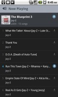 Rdio Album Now Playing and Sync Songs