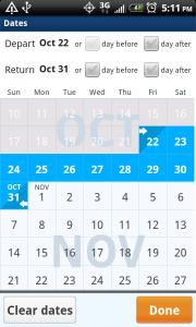 OnTheFly Set Dates