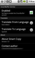 Smart Copy Settings Menu