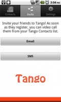 Tango Video Calls Invite Friends