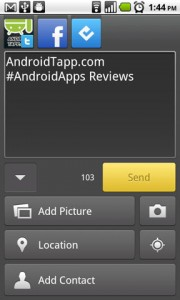 TweetDeck for Android Writing Post