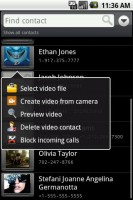 Video Caller ID Set Video Call Options