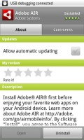 Adobe AIR Android Market Listing