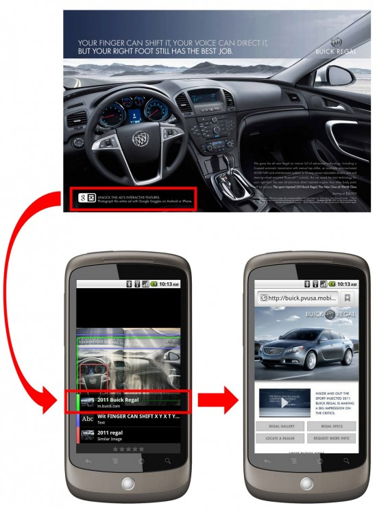 Google Goggles Android App Marketing Experiment