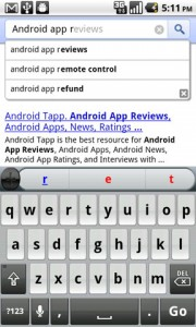 Google Instant Mobile Search