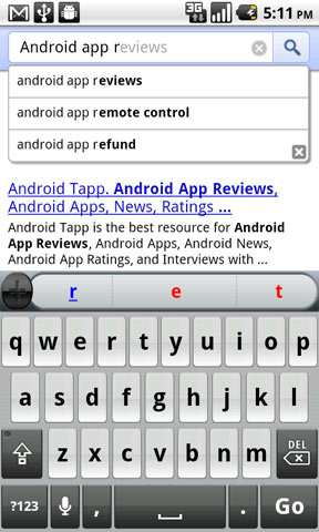 Google Instant Mobile Search Available for Android 2.2