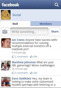Facebook for Android Groups