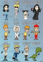 How Android, iPhone and Blackberry Users See Themselves (by C-Section Comics)