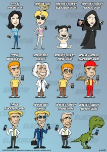 LMAO! How Android, iPhone and Blackberry Users See Themselves [Funny Comics]