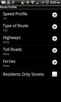 NAVIGON Route Profile