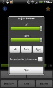 Scanner Radio Balance