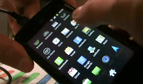 Android 2.3.1 Gingerbread Running on Nokia N900 [Video]