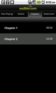 Audible for Android Audio Book Chapters