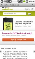Audible for Android Shop for Audio Books