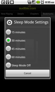 Audible for Android Sleep Mode