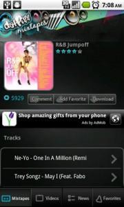 DatPiff Mobile MixTape Page