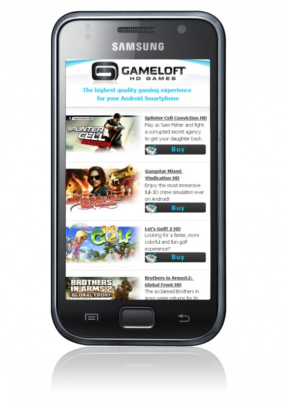 10 New HD Android Games from Gameloft: Splinter Cell, Gangstar, Shrek Cart and More