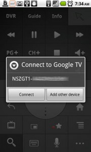 Google TV Remote Google TV Device Found