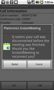 InstantMeeting Call Disconnection Detection