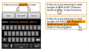 One-touch word selection and copy/paste