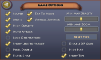 Pocket Legends Game Options