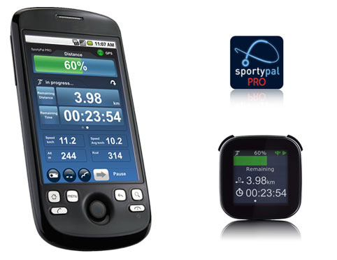 SportyPal PRO for Sony Ericsson LiveView Android Device