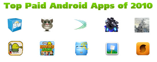 Top Paid Android Apps of 2010