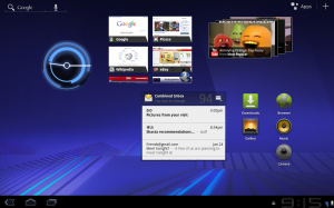 Android 3.0 Honeycomb Home Screen