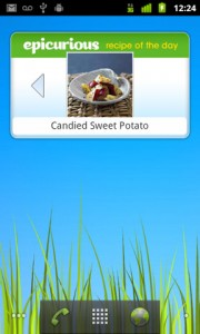 Epicurious Recipe App Recipe of the Day Home Screen Widget