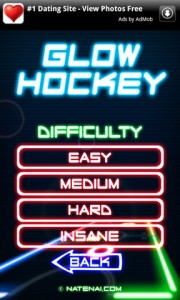 Glow Hockey Difficulty Levels