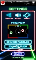 Glow Hockey Settings Menu