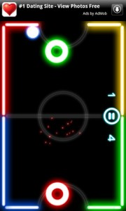 Glow Hockey in Game Play 2