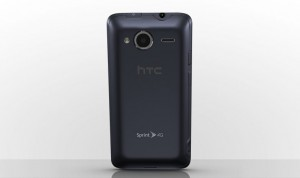 HTC EVO Shift 4G Back View