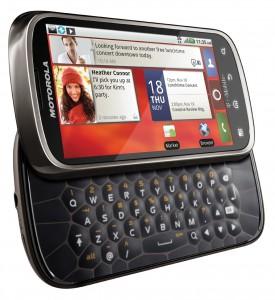 Motorola Cliq 2 Keyboard Open Angle View