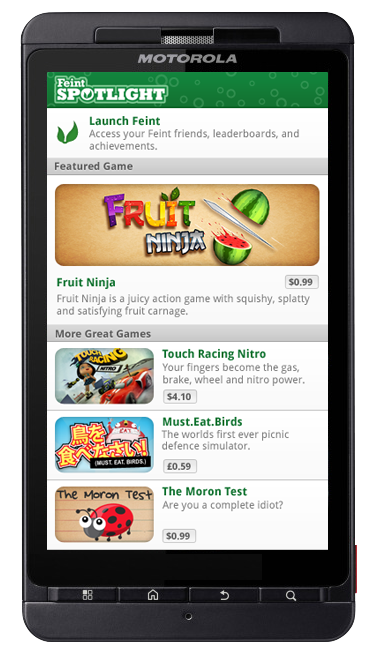 Discover Android Games Friends Play with Feint Game Spotlight