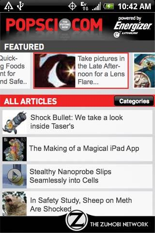 Popular Science Releases PopSci.com Android App