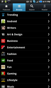 Pulse News Reader Browse all Categories