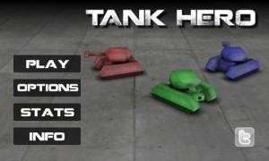 Tank Hero Start Screen