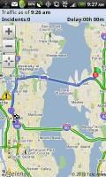 TeleNav GPS Navigator 6.2 Commute Alert Map